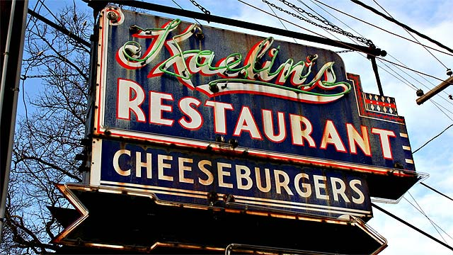 Photo of Kaelins Restaurant birthplace of the cheeseburger in Louisville KY