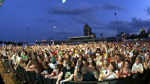 Photo of Crowd at Forecastle held in Louisville KY
