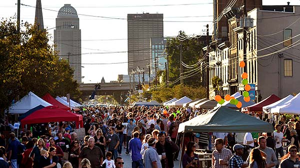 Photo of a NuLu festival in Louisville, Kentucky