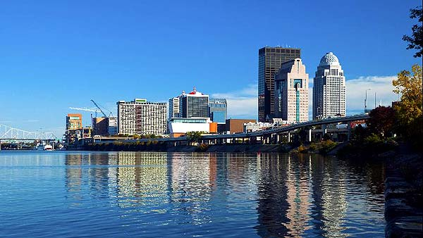 Louisville 8th in Most Affordable Cities to Live. Photo of riverfront