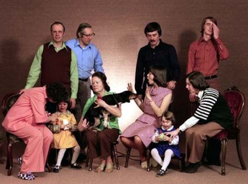 Photo of a strange family