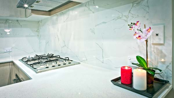 Photo of a light and bright kitchen