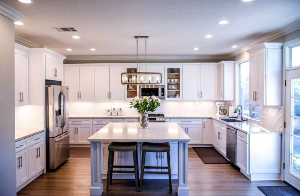 Photo of an updated kitchen