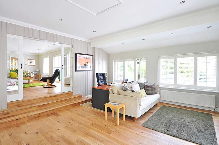 Photo of an inviting family room