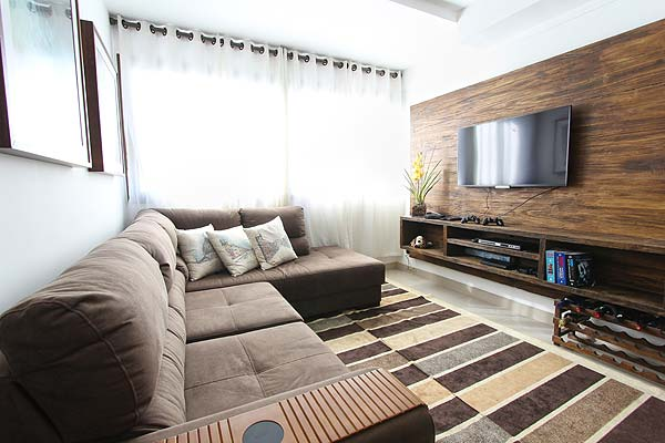 Photo of a living room in a condo