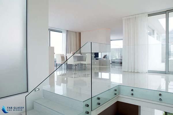 Photo of a glass railing