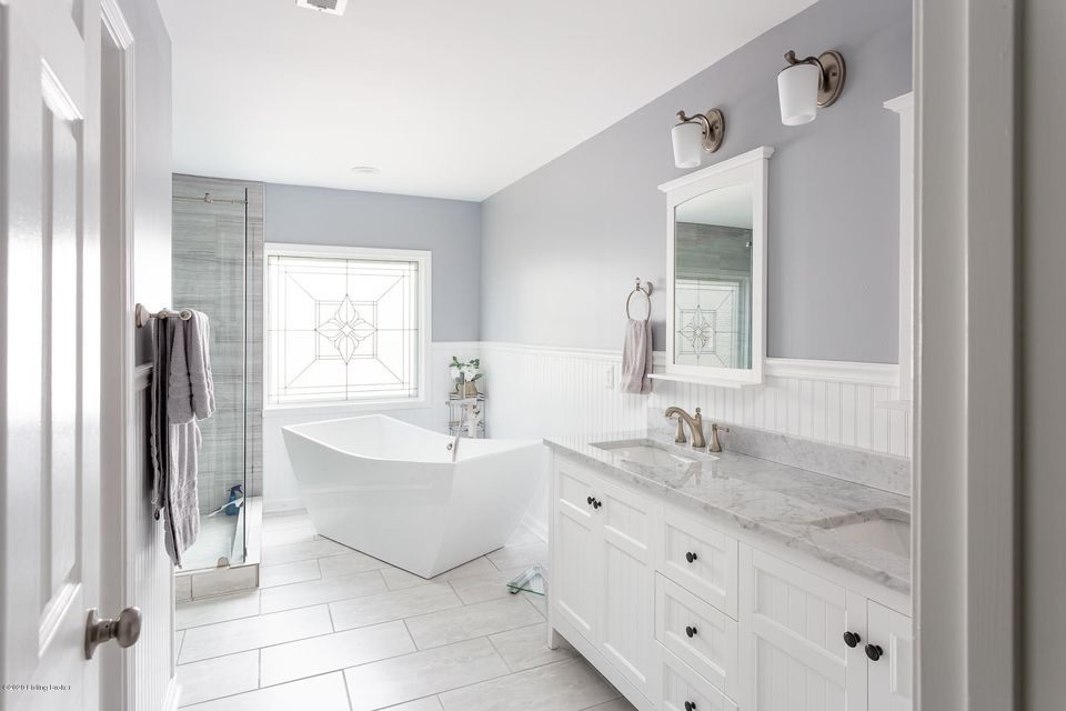 Photo of an updated bathroom