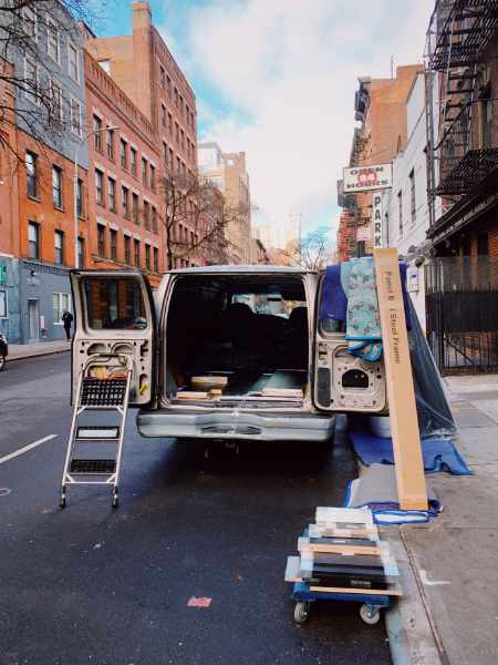 Photo of a moving van