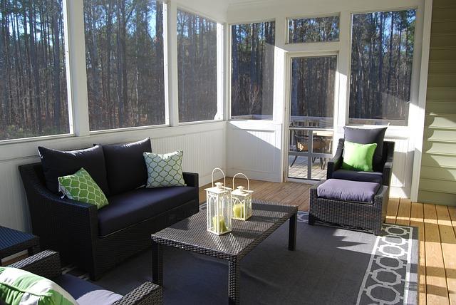 Photo of a sunroom addition