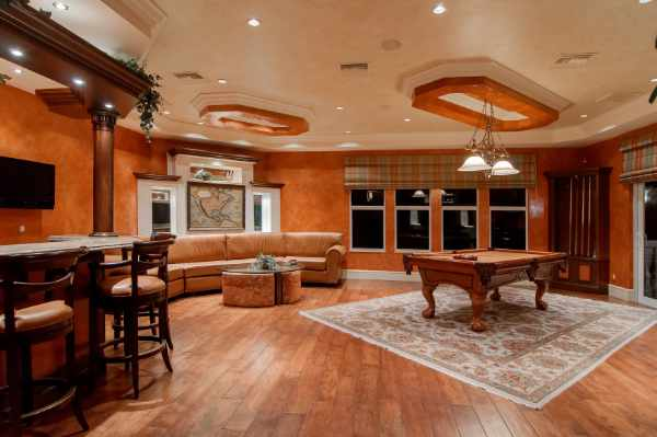 Photo of a classy game room