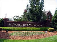 Photo of Entry into Woods Of St. Thomas Louisville Kentucky
