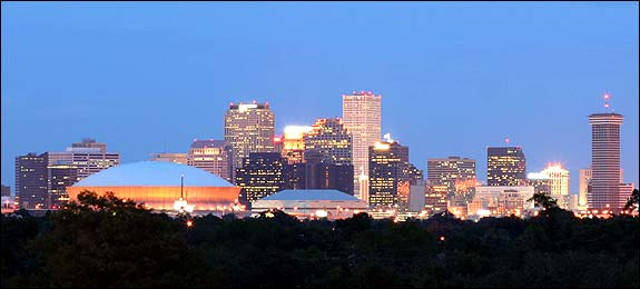 Photo of skyline of New Orleans Louisiana